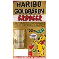 Haribo Goldbären Erdbeer (1kg Beutel...