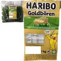 Haribo Goldbären Apfel (1kg Beutel Gummibärchen...