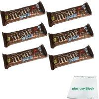 M&Ms Hi Proteinriegel Schokolade (6x51g Riegel) + usy...