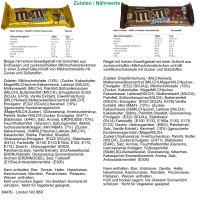 M&Ms Hi Proteinriegel Erdnuss (6x51g Riegel) + usy Block